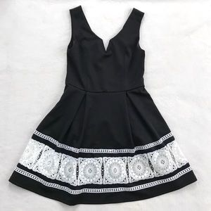 Francesca's | alya Black and White Dress